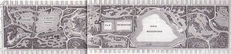 Frederick Law Olmsted's Map of Central Park