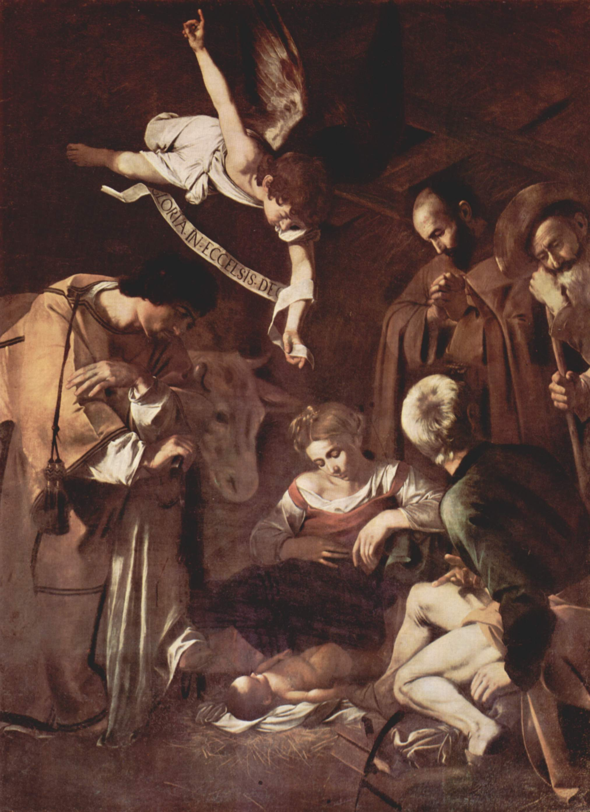 """Caravaggio's """"Nativity with St. Francis and St. Lawrence"""""""
