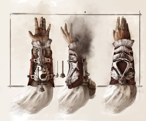 Ezio Auditore's Hidden Blade/Gun