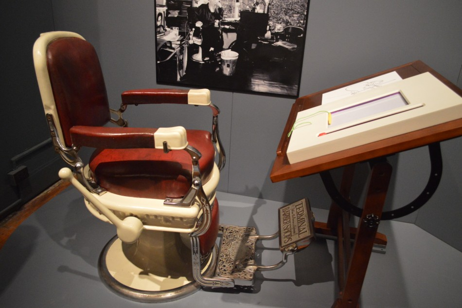 Al Hirschfeld's Chair and Lamp