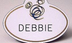 Debbie Stone's Name Tag