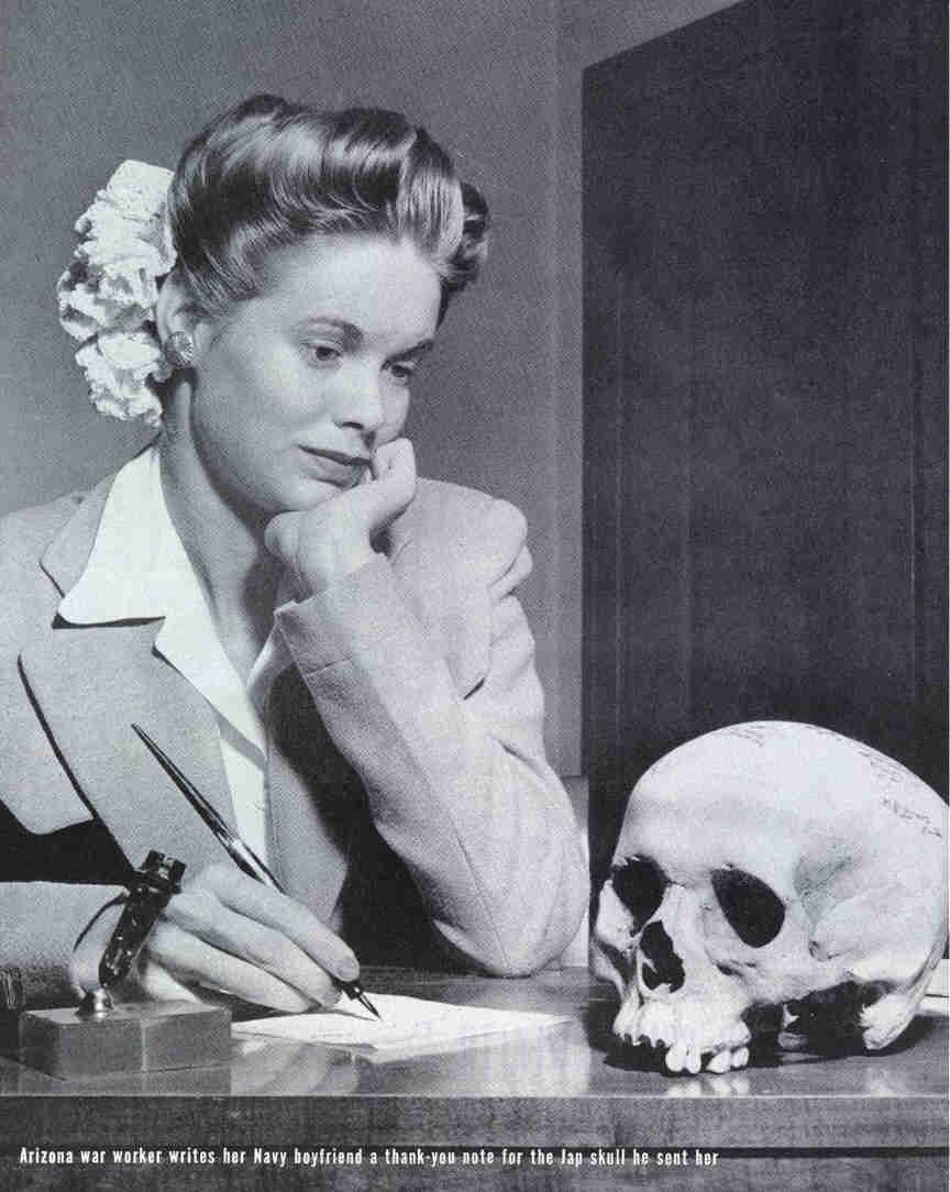 """Natalie Nickerson's """"Jap Skull"""""""