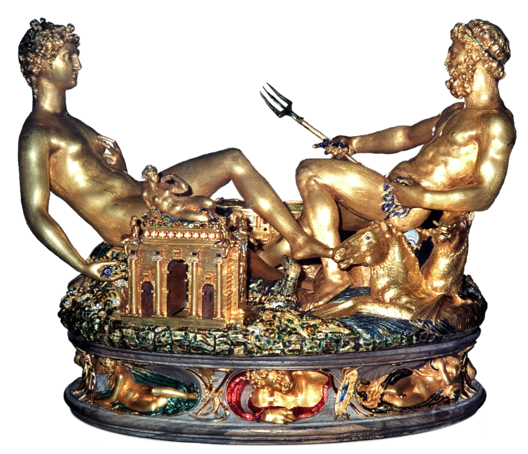 Benvenuto Cellini's Salt Cellar and Silver Spoon