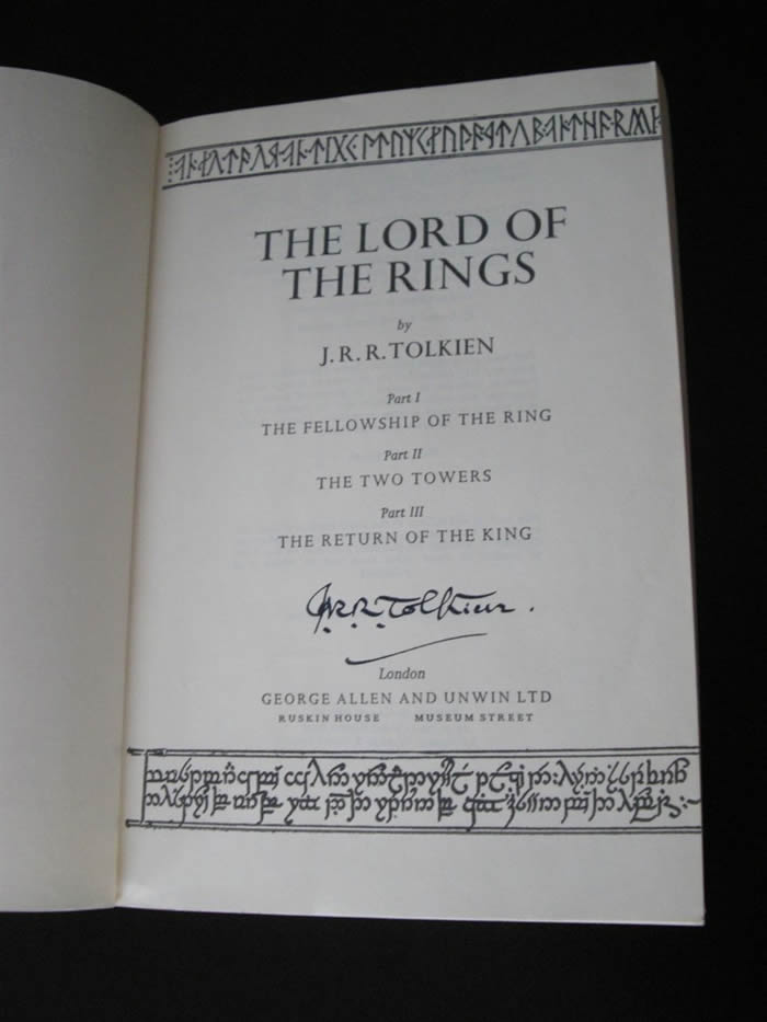 """Christopher Lee's Copy of """"the Lord of the Rings"""""""
