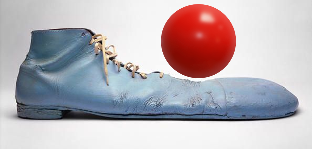 Pinto Colvig's Clown Shoes and Nose