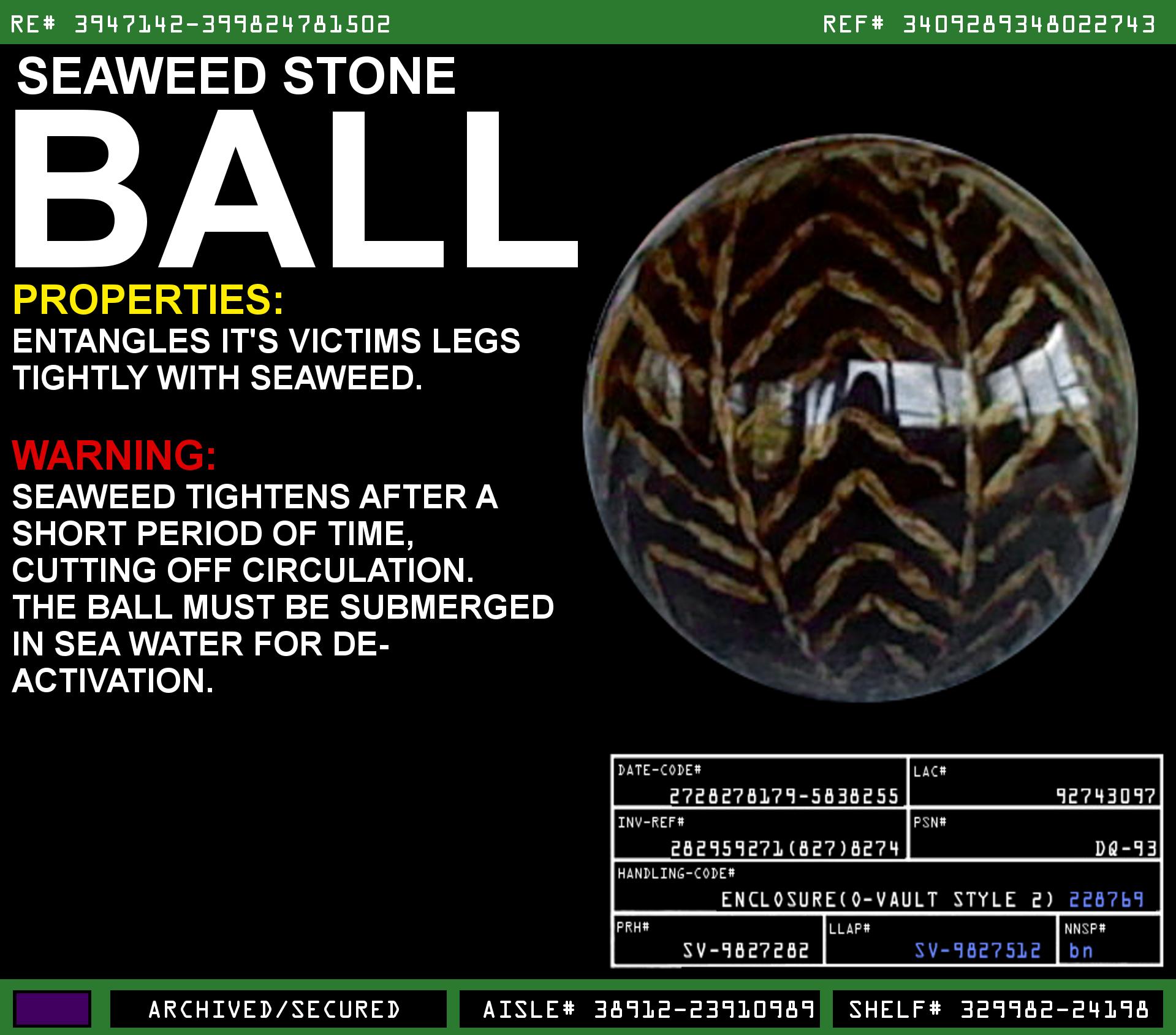 Seaweed Stone Ball