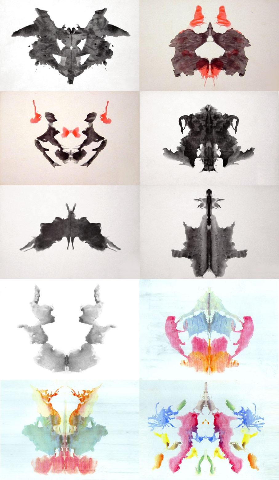 Hermann Rorschach's 10 Cards