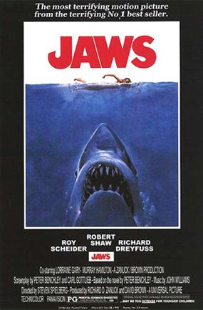 """Original """"Jaws"""" Poster"""