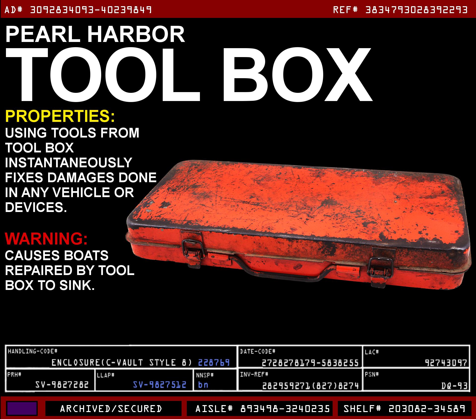 Pearl Harbor Tool Box