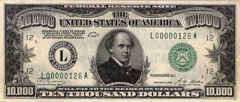 Benny Binion's $10,000 Bill