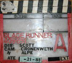 Blade Runner Clapboard