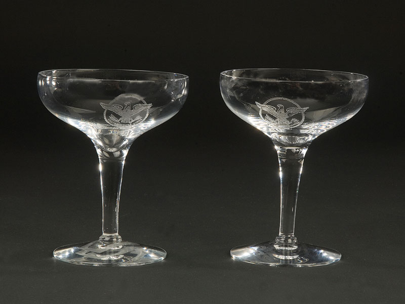 Champagne Glasses From the SS United States