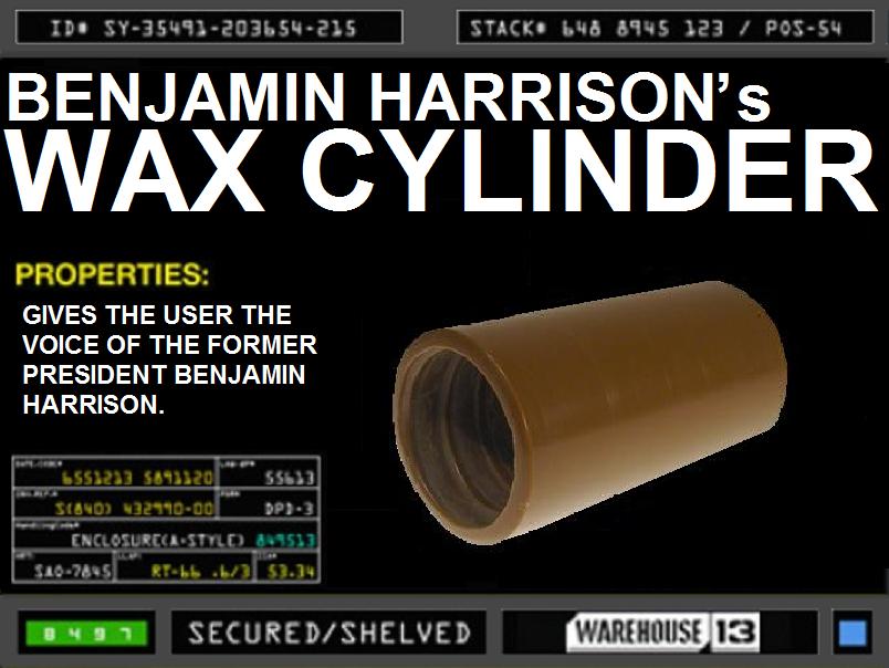 Benjamin Harrison's Wax Cylinder
