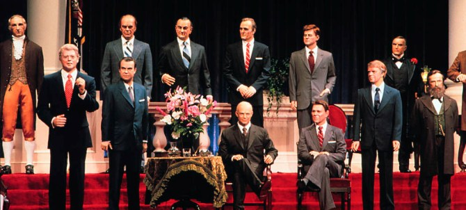 """Animatronic Presidents from the """"Hall of Presidents"""" in Walt Disney World"""