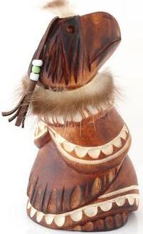 Kutkh Wooden Statue