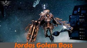 Warframe J3 Golem Solo Archwing Assassination (Jordas Golem)
