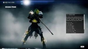 Warframe Nikana Prime Codex preview