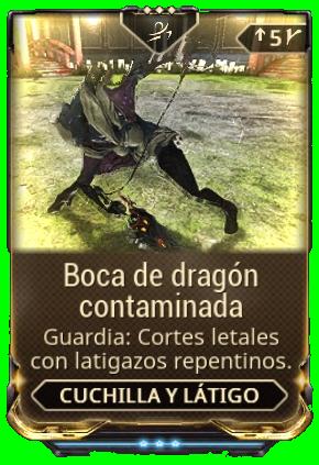 Boca de dragón contaminada