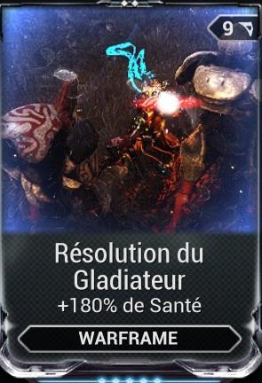 Résolution du Gladiateur