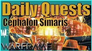 Cephalon Simaris Daily Quest Update 17