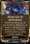 Absorción de antimateria