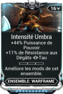 Intensité Umbra