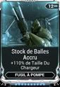 Stock de Balles Accru