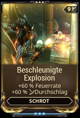 Beschleunigte Explosion