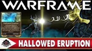 Warframe Hallowed Eruption Oberon Augment Is it worth it?
