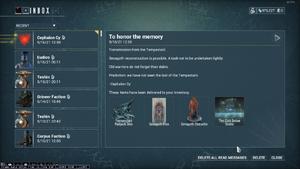 Quest completion reward