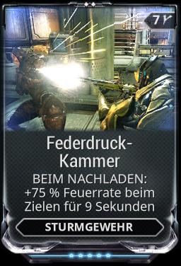 Federdruck-Kammer