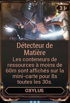 Détecteur de Matière