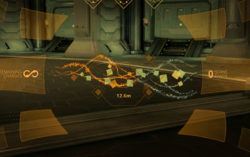 A trail to the Synthesis target visible using the Synthesis Scanner.