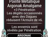 Pointe Métallique Argonak Amalgame