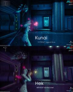 Kunai dispersion