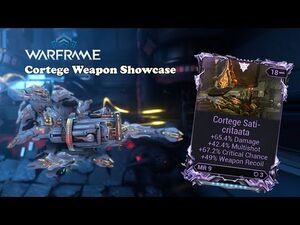 Cortege Weapon Showcase with God Riven Build - Warframe