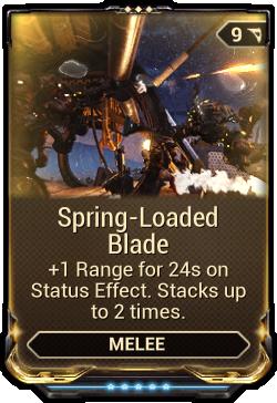 Spring-Loaded Blade