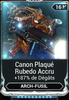 Canon Plaqué Rubedo Accru