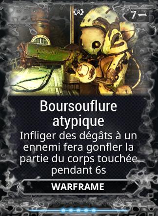 Boursouflure Atypique