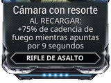 Cámara con resorte