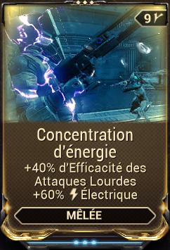 Concentration d'énergie