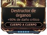 Destructor de órganos