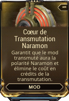 Coeur de Transmutation Naramon