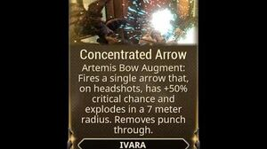 WARFRAME - Ivara Concentrated Arrow