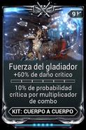 Fuerza del gladiador