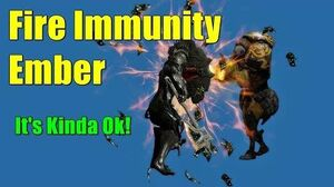 Gladiator Ember With Fire IMMUNITY Using Adaptation (NO Arcanes)