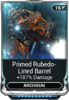 Primed Rubedo-Lined Barrel