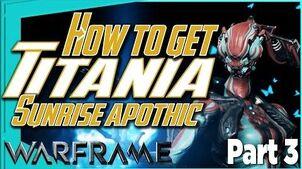 THE SILVER GROVE - Titania Complete! & Sunrise Apothic Warframe Quest part 3