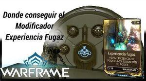 Waframe donde conseguir el mod Experiencia Fugaz (FleetingExpertise)