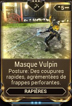 Masque Vulpin